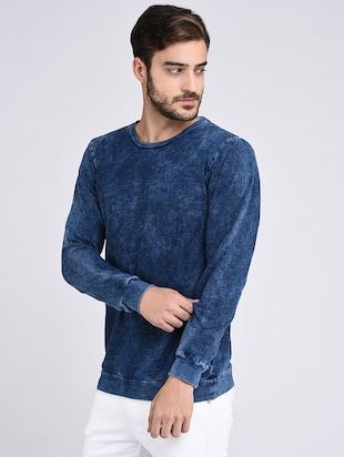 blue cotton sweatshirt - 15614773 - Standard Image - 2
