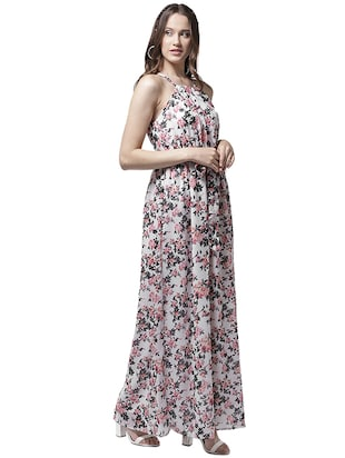 halter neck floral maxi dress - 15615409 - Standard Image - 2