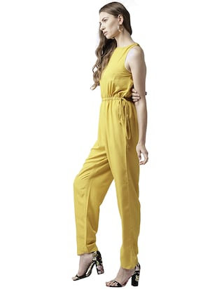 elasticated waist full length jumpsuit - 15615421 - Standard Image - 2
