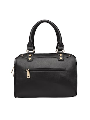 black leatherette (pu) regular handbag - 15615502 - Standard Image - 2