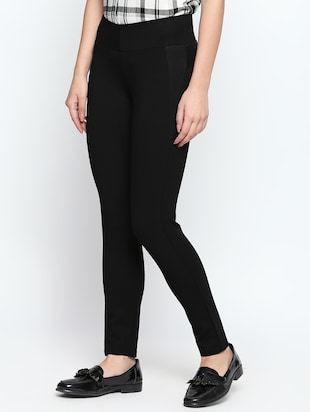 patch detail solid high rise jegging - 15615689 - Standard Image - 2