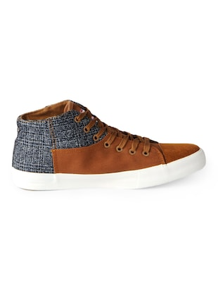 brown Canvas lace up sneakers - 15615696 - Standard Image - 2