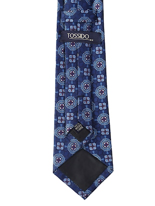 blue micro fiber tie with pocket square and cufflink - 15615759 - Standard Image - 2