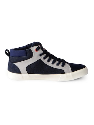 blue Canvas lace up sneakers - 15616078 - Standard Image - 2