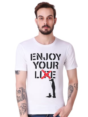white cotton combos t-shirt - 15616127 - Standard Image - 2
