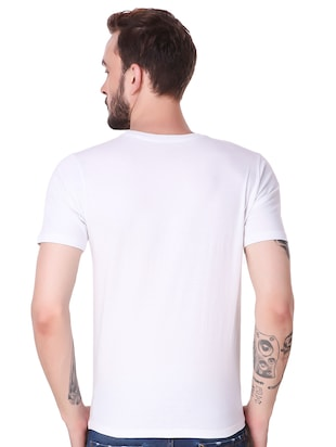 white cotton combos t-shirt - 15616127 - Standard Image - 5
