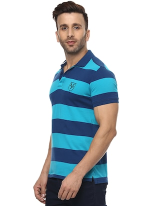 blue cotton polo t-shirt - 15619673 - Standard Image - 2
