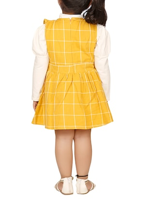 yellow cotton frock - 15620593 - Standard Image - 2