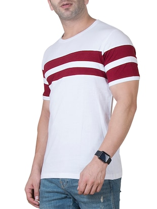 white cotton cut & sew t-shirt - 15620674 - Standard Image - 2