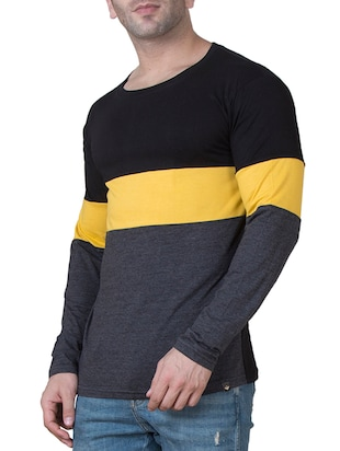 multi colored cotton color block t-shirt - 15620681 - Standard Image - 2
