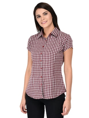 short sleeve shepherd checks shirt - 15621188 - Standard Image - 2