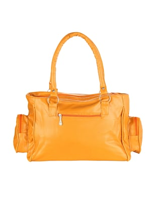 orange leatherette (pu) regular handbag - 15621254 - Standard Image - 2