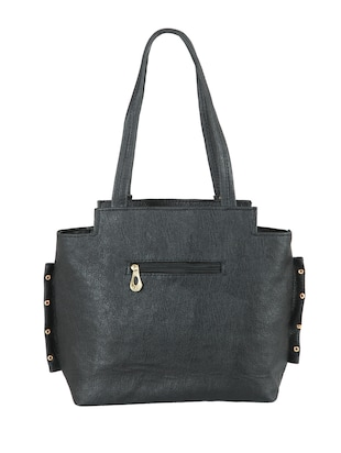 black leatherette (pu) regular handbag - 15621322 - Standard Image - 2