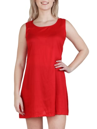 round neck a-line dress - 15621343 - Standard Image - 2