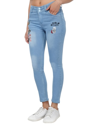 embroidered detail stone washjeans - 15621471 - Standard Image - 2