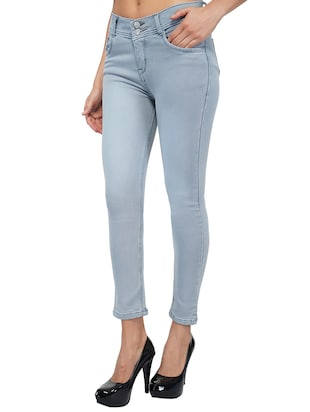 mid rise ankle length jeans - 15621484 - Standard Image - 2