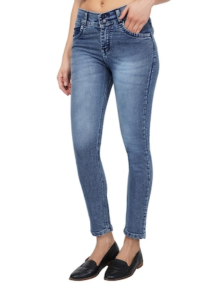 ankle length stone wash jeans - 15621494 - Standard Image - 2