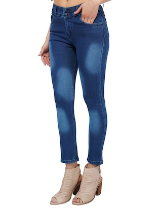 mid rise stone washed jeans - 15621496 - Standard Image - 2