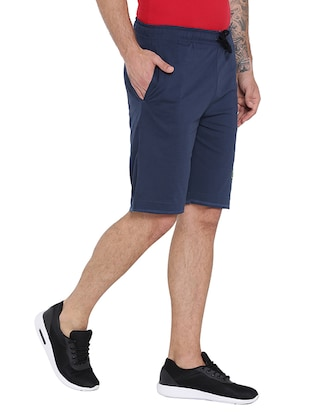 navy blue cotton shorts - 15621596 - Standard Image - 2