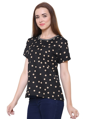 short sleeved polka dots top - 15621614 - Standard Image - 2