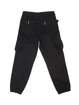 black cotton blend jogger - 15625242 - Standard Image - 2