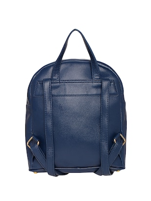 blue leatherette (pu) fashion backpack - 15625758 - Standard Image - 2