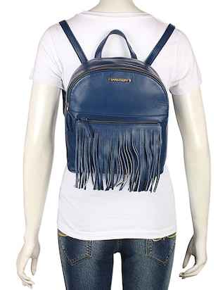 blue leatherette (pu) fashion backpack - 15625758 - Standard Image - 5