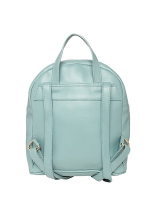 blue leatherette (pu) fashion backpack - 15625759 - Standard Image - 2