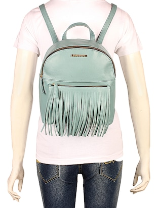 blue leatherette (pu) fashion backpack - 15625759 - Standard Image - 5