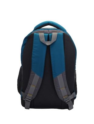 blue cotton polyester blend regular backpack - 15625764 - Standard Image - 2