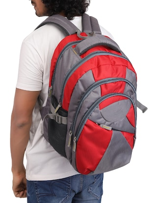 red cotton polyester blend regular backpack - 15625773 - Standard Image - 5