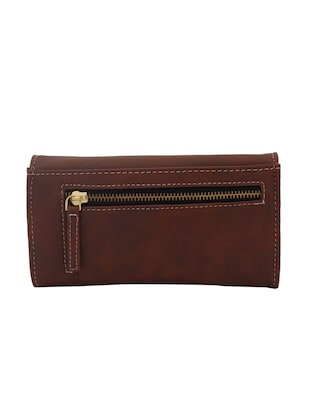 brown leatherette (pu wallet - 15625841 - Standard Image - 2
