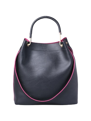 black leatherette (pu) regular tote - 15625991 - Standard Image - 2