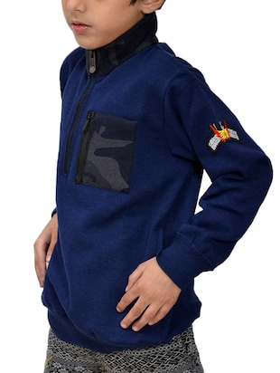 blue fleece sweatshirt - 15629411 - Standard Image - 2