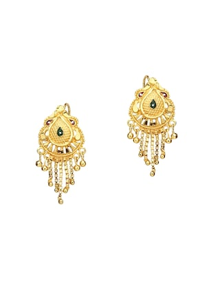Gold Tone Mangalsutra & Earrings set - 15630813 - Standard Image - 2