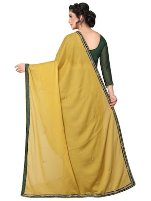 floral half and half saree with blouse - 15642655 - Standard Image - 2