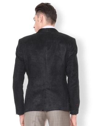 black polyester single breasted tuxedo - 15654081 - Standard Image - 2