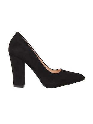 black suede slip on pumps - 15654436 - Standard Image - 2