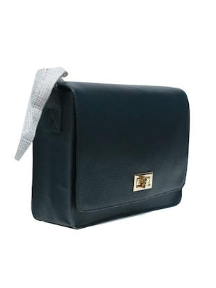 black leatherette (pu) regular sling bag - 15654799 - Standard Image - 5