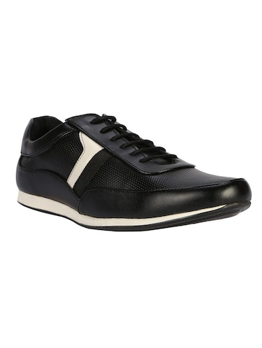 65c3bbcab84 Buy Black Leatherette Lace Up Shoe for Men from Wonker for ₹1058 at ...