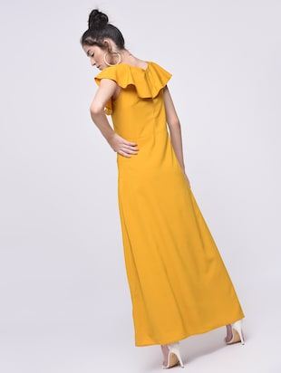 flutter sleeved maxi dress - 15692005 - Standard Image - 2
