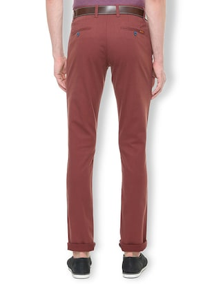 red cotton blend chinos - 15699186 - Standard Image - 2