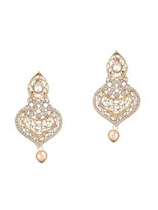 gold plated drop earring - 15706213 - Standard Image - 2