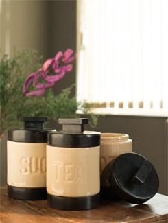 Sugar, Tea & Coffee Jars (Set Of 3) - ANUVA