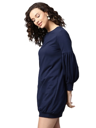 lantern sleeve sweatshirt dress - 15716875 - Standard Image - 2