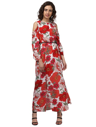 7c8eab59226 Buy Cold Shoulder Floral Maxi Dress for Women from Gerua for ₹899 ...