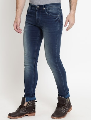 blue cotton washed jeans - 15721458 - Standard Image - 2