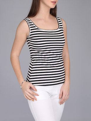 monochrome striped tank top - 15726291 - Standard Image - 2