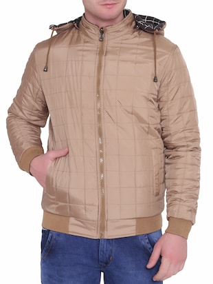 brown polyester blend reversible jacket - 15726591 - Standard Image - 2