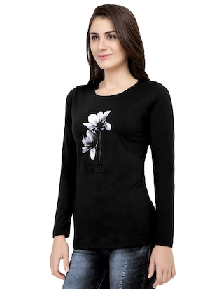 graphic print long sleeved tee - 15726859 - Standard Image - 2